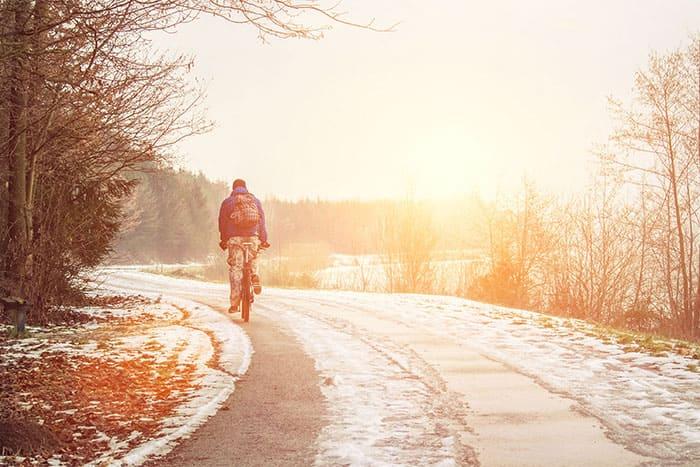 Fahrradfahren im Winter | Hämophilie A